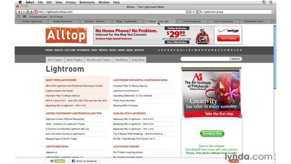 Online resources and the Lightroom Newsletter: Lightroom 3 Essential Training