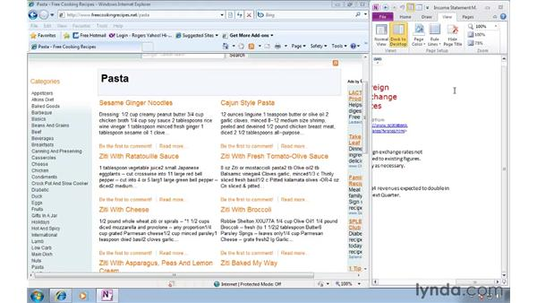 Organizing the user interface: OneNote 2010 Essential Training