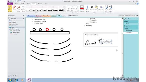 Manipulating written notes and drawings: OneNote 2010 Essential Training