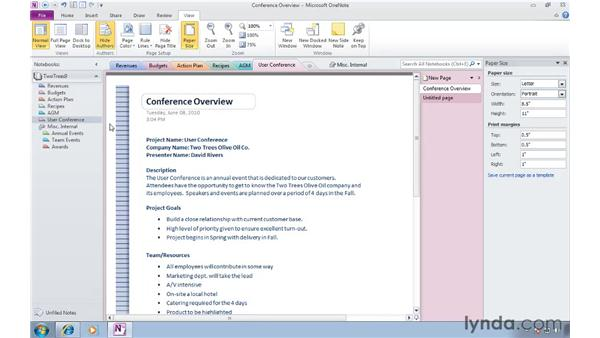 : OneNote 2010 Essential Training