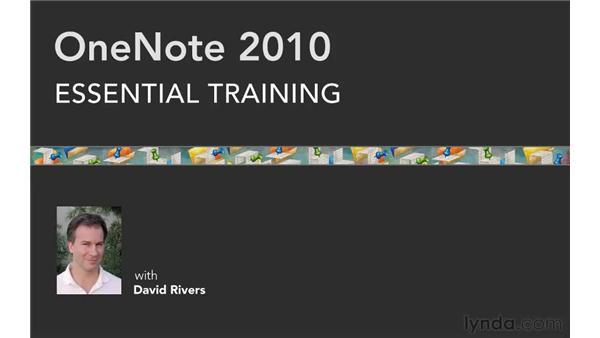 : OneNote 2010 Essential Training