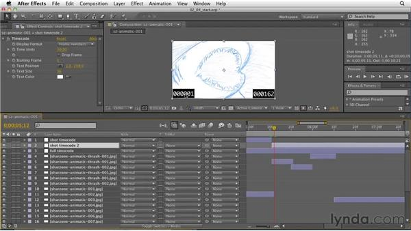 Adding onscreen timecode for reference: CINEMA 4D: Designing a Promo