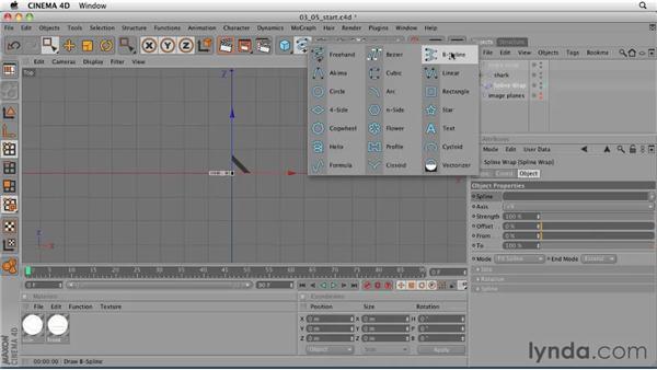 Preparing a dummy rig using a Spline Wrap object: CINEMA 4D: Designing a Promo