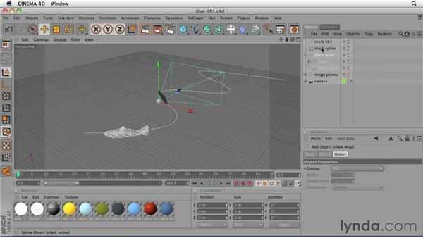 Setting up a project file for the cameramatic: CINEMA 4D: Designing a Promo