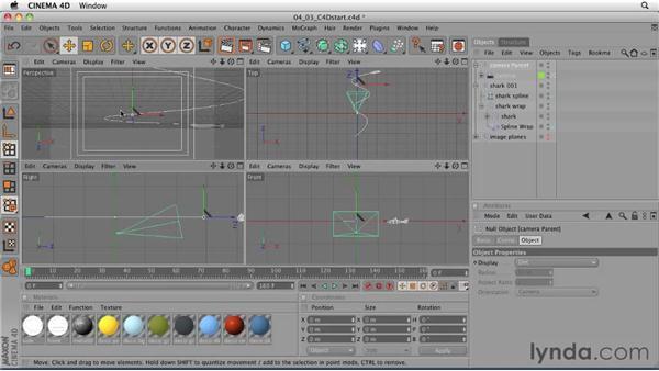 Animating the camera: CINEMA 4D: Designing a Promo