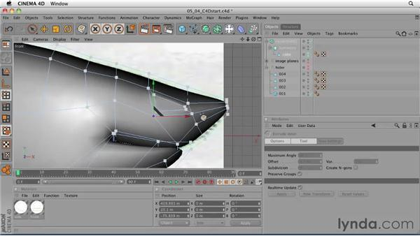Adding eyes using the Symmetry object: CINEMA 4D: Designing a Promo