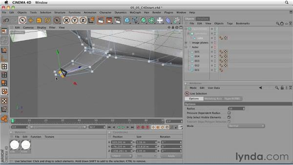 Creating fins using the Extrude tool: CINEMA 4D: Designing a Promo