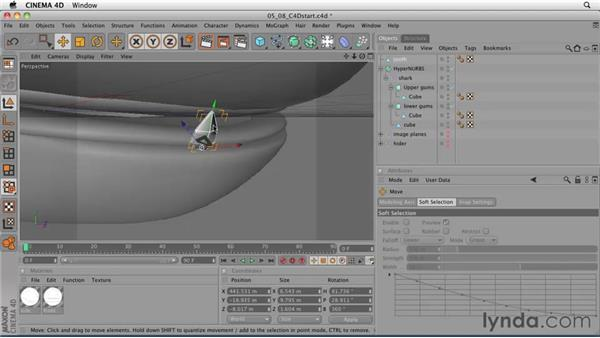 Creating teeth and finalizing the model: CINEMA 4D: Designing a Promo