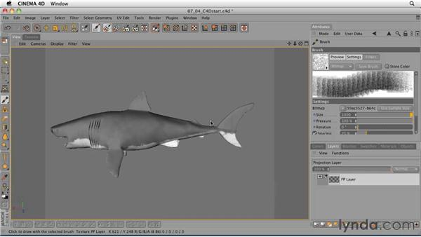 Roughing the surface using the bump channel: CINEMA 4D: Designing a Promo
