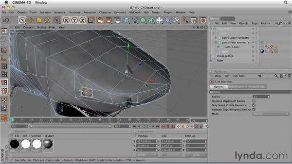 Texturing the eyes: CINEMA 4D: Designing a Promo