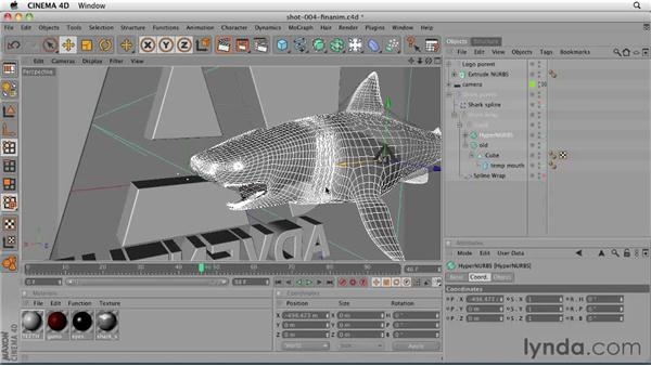 Replacing the rough shark model in the end page shot: CINEMA 4D: Designing a Promo