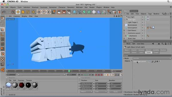 Lighting the objects and creating shadows: CINEMA 4D: Designing a Promo