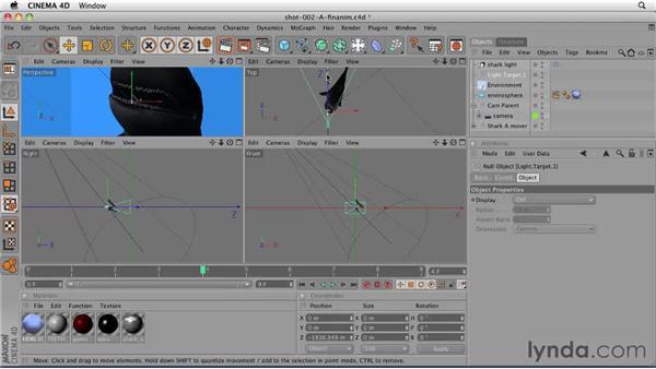 Lighting shot 2: Pasting a lighting setup and making adjustments: CINEMA 4D: Designing a Promo