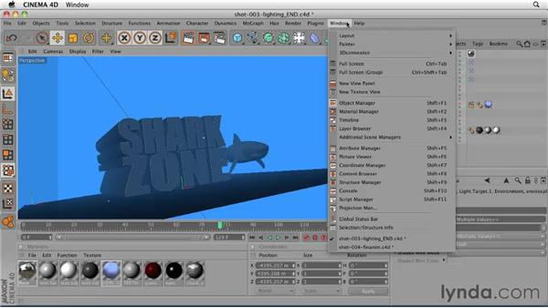 Lighting shot 4: Separate elements in a shot (the shark): CINEMA 4D: Designing a Promo