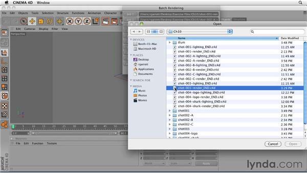 Batch-rendering: CINEMA 4D: Designing a Promo