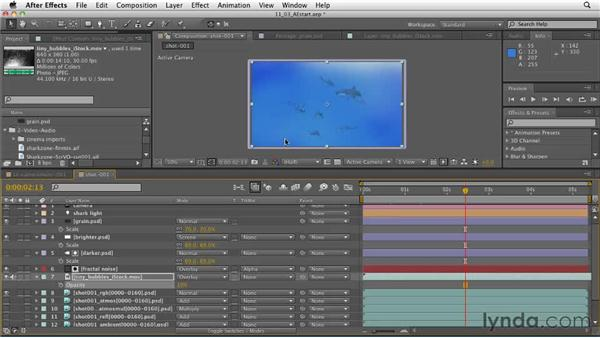 The intro shot: Compositing in stock video footage to add character: CINEMA 4D: Designing a Promo