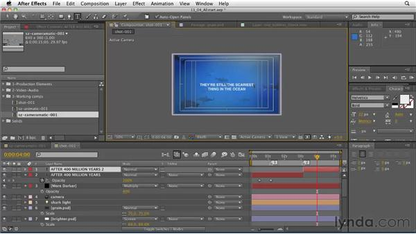 The intro shot: Adding text elements to the composite: CINEMA 4D: Designing a Promo