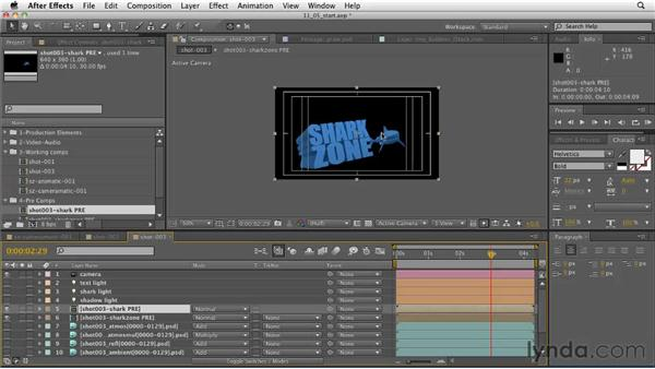 The hero shot: Controlling the look using precomps: CINEMA 4D: Designing a Promo