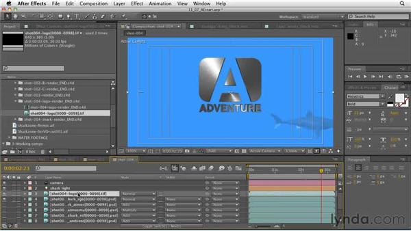 The end page shot: Combining multiple passes to form a final composite shot: CINEMA 4D: Designing a Promo