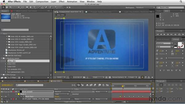 The end page shot: Adding text elements to the composite: CINEMA 4D: Designing a Promo