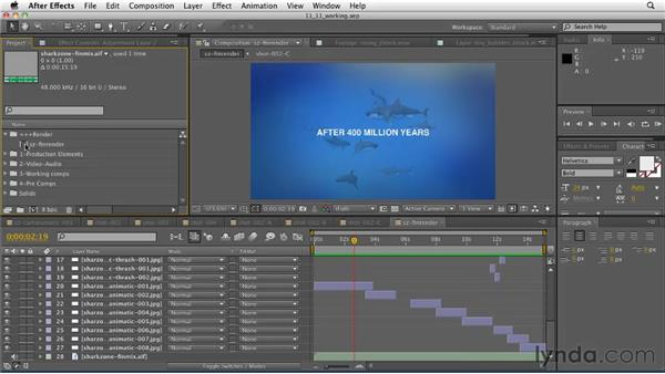 Adding the final audio to the composition and rendering: CINEMA 4D: Designing a Promo