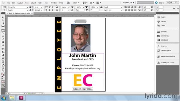 Revealing the Tags panel: InDesign CS5: Dynamic Publishing Workflows in XML