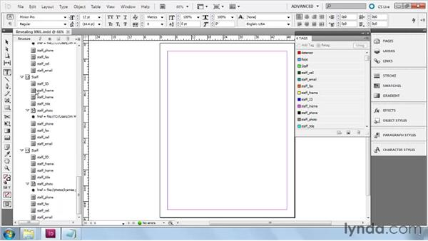 Revealing XML content: InDesign CS5: Dynamic Publishing Workflows in XML