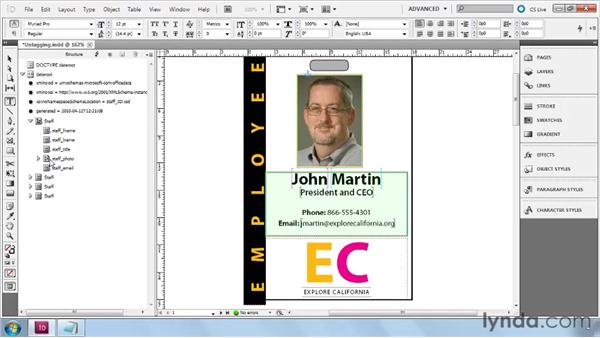 Untagging elements: InDesign CS5: Dynamic Publishing Workflows in XML