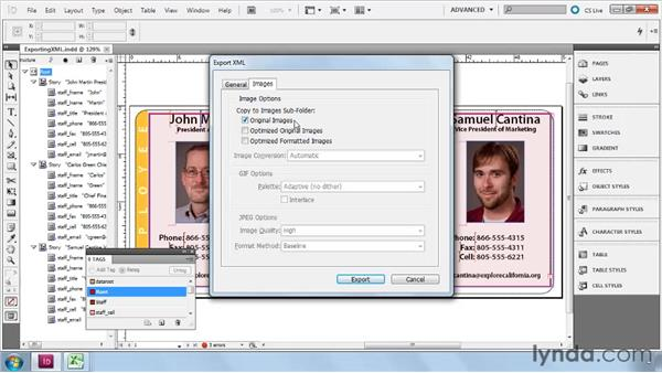 Exporting XML: InDesign CS5: Dynamic Publishing Workflows in XML