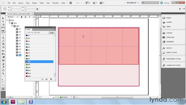Importing XML into tables: InDesign CS5: Dynamic Publishing Workflows in XML