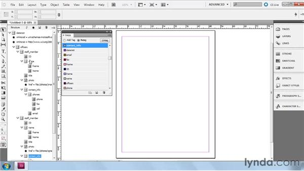 Identifying structure from imported XML: InDesign CS5: Dynamic Publishing Workflows in XML