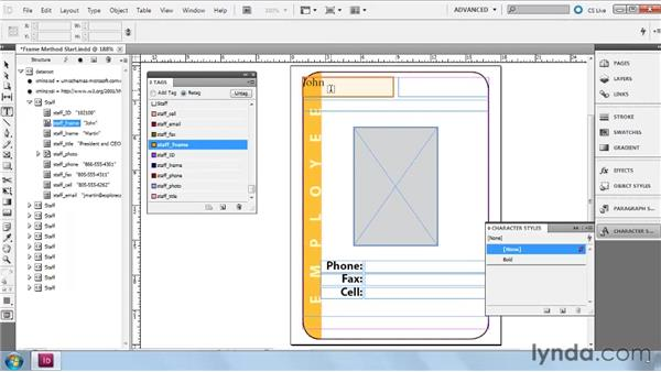 Building Frame layouts with imported XML: InDesign CS5: Dynamic Publishing Workflows in XML