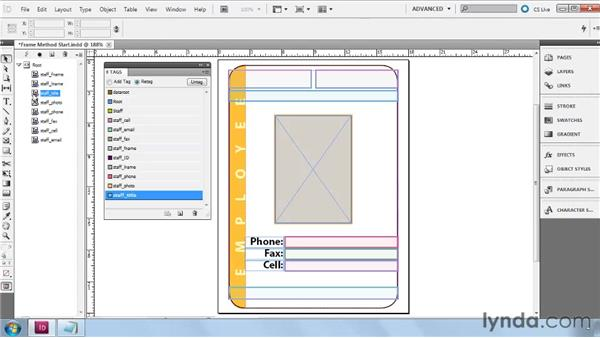 Building Frame layouts from scratch: InDesign CS5: Dynamic Publishing Workflows in XML