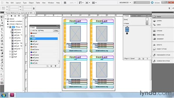 Building multipart Frame layouts from scratch: InDesign CS5: Dynamic Publishing Workflows in XML