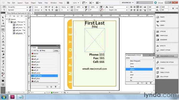 Building Flow layouts from scratch: InDesign CS5: Dynamic Publishing Workflows in XML