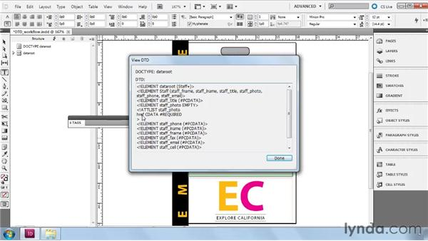 Using a DTD in an XML workflow: InDesign CS5: Dynamic Publishing Workflows in XML