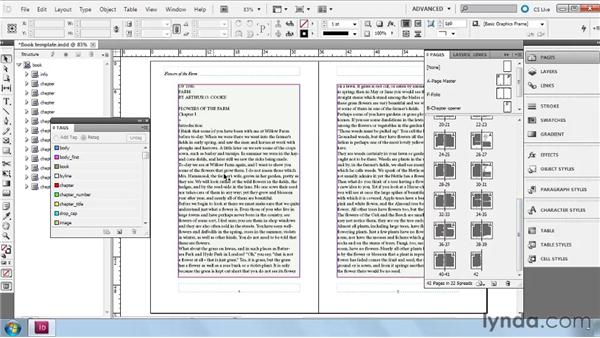 Importing a file into a completed layout: InDesign CS5: Dynamic Publishing Workflows in XML