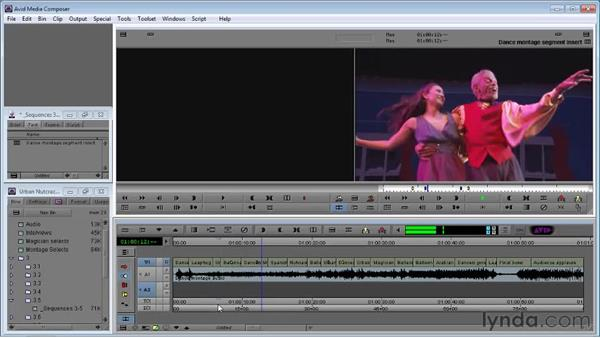 Using Extract/Splice Segment Mode to switch shots in the timeline: Avid Media Composer 5 Essential Training