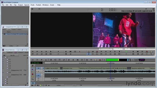 Using Lift/Overwrite Segment Mode to move shots in the timeline: Avid Media Composer 5 Essential Training