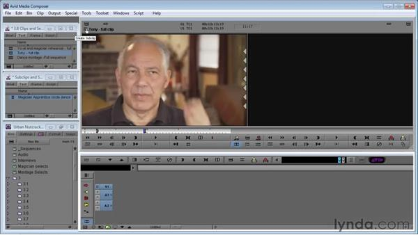 Using subclips and subsequences: Avid Media Composer 5 Essential Training