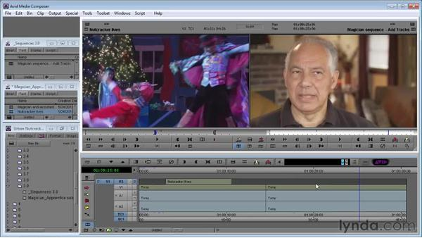 Adding and patching video tracks: Avid Media Composer 5 Essential Training