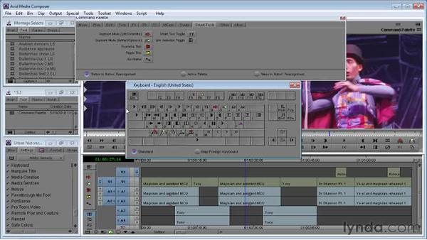 Using the Command palette: Avid Media Composer 5 Essential Training