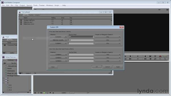Sorting and sifting clips: Avid Media Composer 5 Essential Training