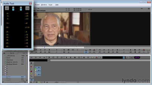 Using the Audio tool to read audio levels: Avid Media Composer 5 Essential Training