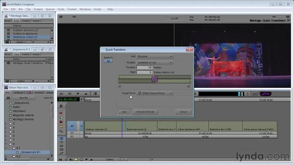 Using Quick Transition effects: Avid Media Composer 5 Essential Training
