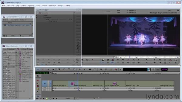 Keyframing segment effects: Avid Media Composer 5 Essential Training
