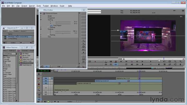 Using the Picture-in-Picture effect: Avid Media Composer 5 Essential Training