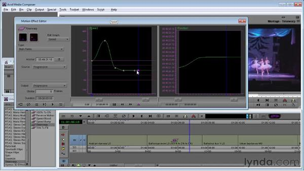 Using Timewarp: Avid Media Composer 5 Essential Training