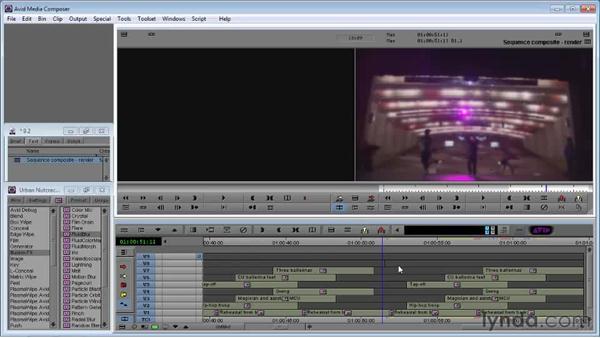 Rendering tracks: Avid Media Composer 5 Essential Training