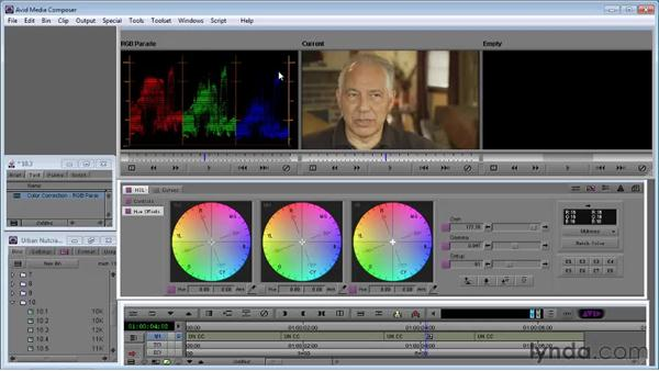 Using the RGB Parade to correct color casts: Avid Media Composer 5 Essential Training
